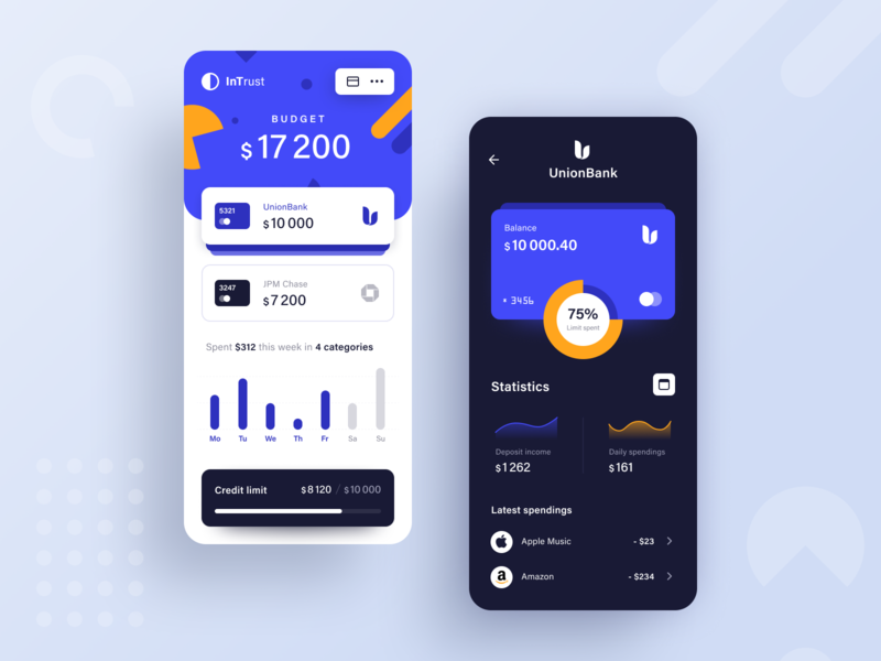 InTrust Banking App banking service money finance financial banking app application app design entrepreneur startup business halo lab halo colourful design mobile