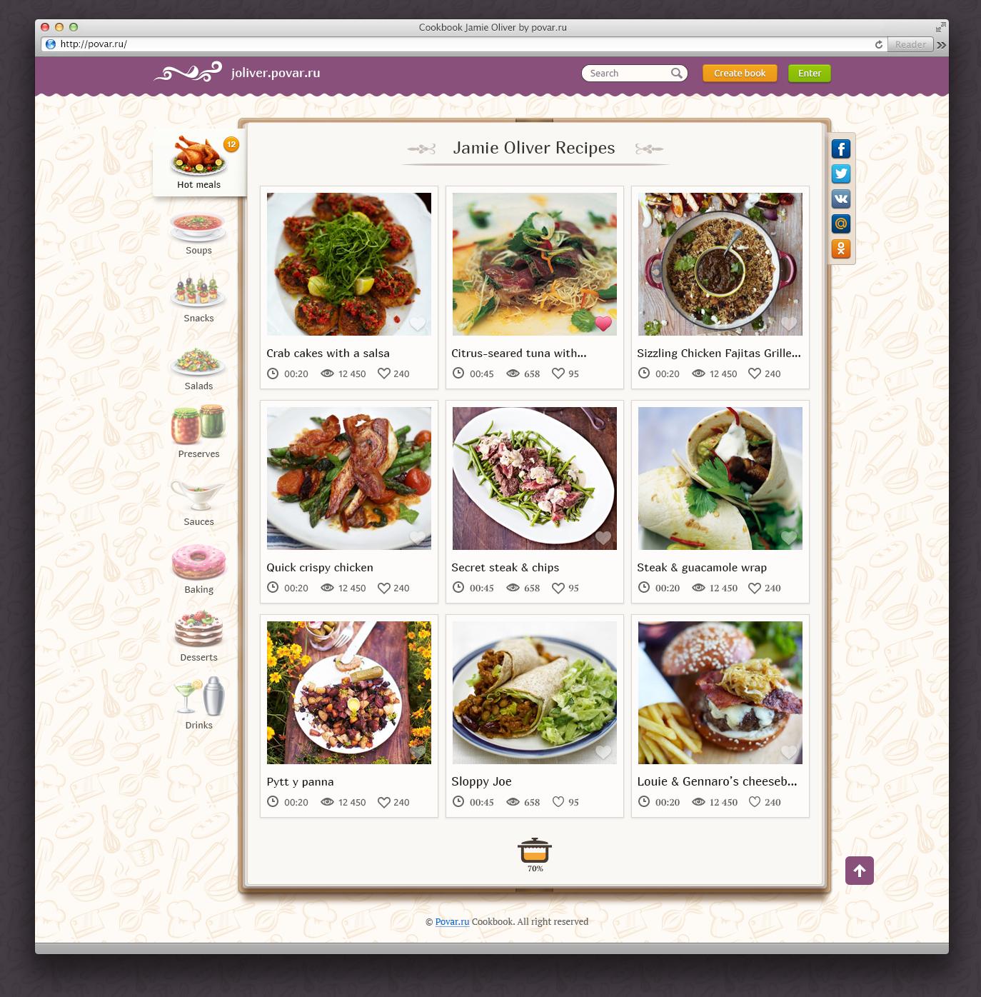 Web cookbook