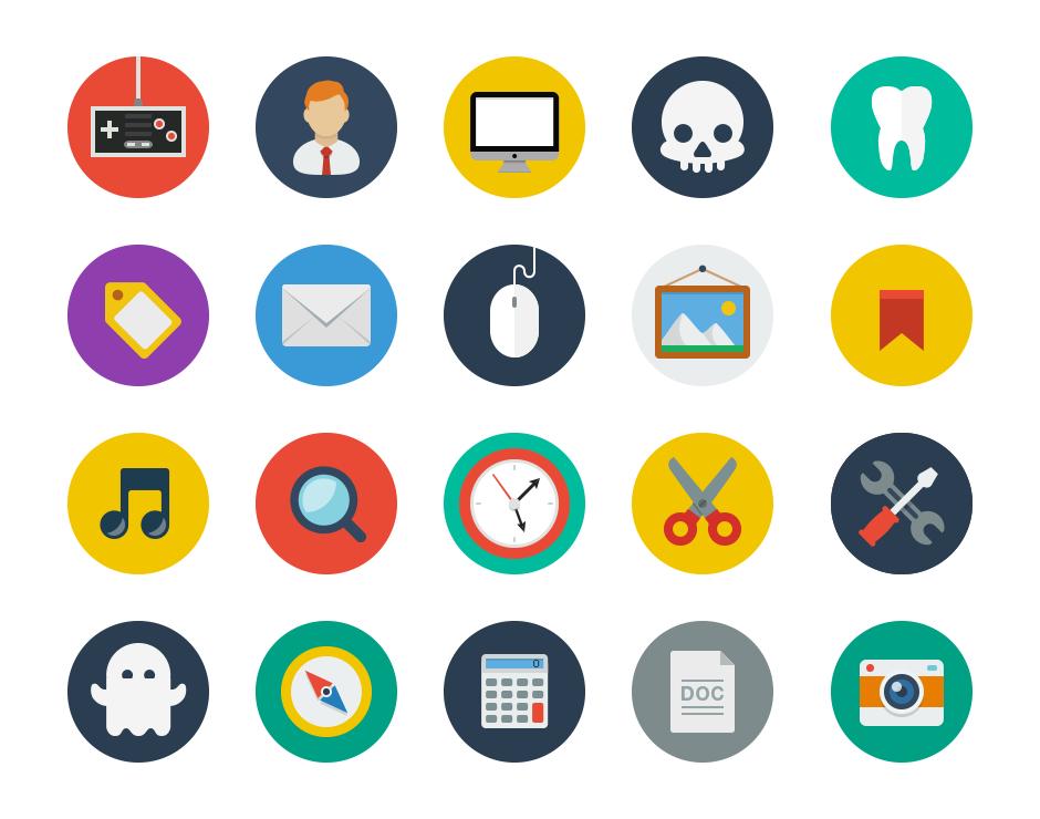Flat icons realpixel