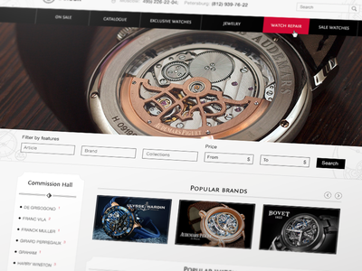 O'clock Pawn Shop Website halo lab web website ui ux clean flat heyllow watch