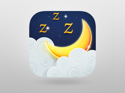 Dream Catcher iOS icon halo lab icon ios drams night sleep moon stars cloud icons