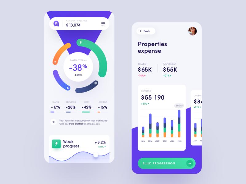 Arealty Mobile property management money matter halo lab halo financial management financial entrepreneur enterprise business ux ui startup interface design application