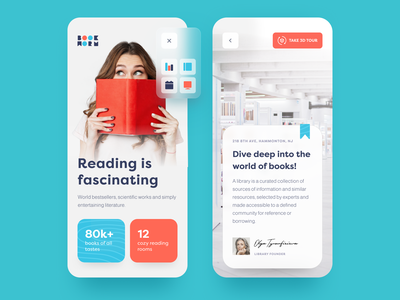 Book Worm Mobile business thinking information reading e-library catalogue bookworm digital technologies new media e-reading mentorship activity entertainment application ux ui startup interface design
