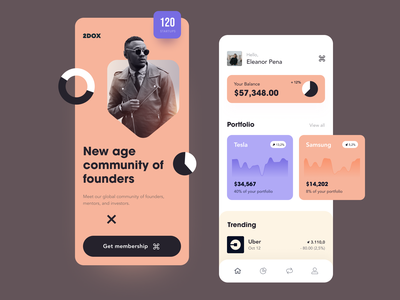 2DOX Mobile ux ui startup interface design application