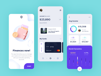 Crane Finance Mobile application ux ui startup interface design