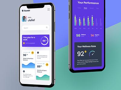 Rumbl Mobile ux ui startup interface design application