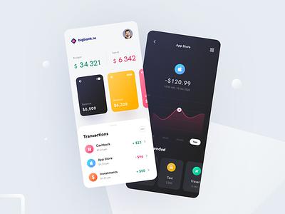 Bigbank Mobile application ux ui startup interface design