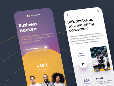 Mr. Booster Mobile application ux ui startup interface design