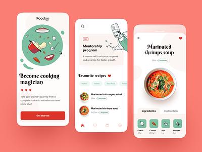 Foodoo Mobile application ux ui startup interface design