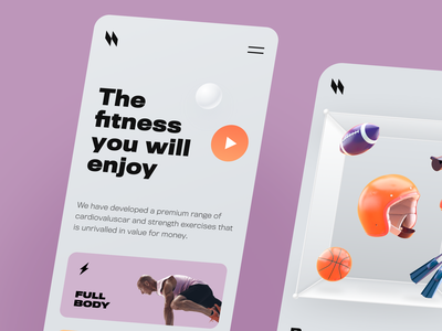 Fitness Mobile ux ui startup interface design application