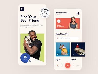 Petz Mobile ux ui startup interface design application