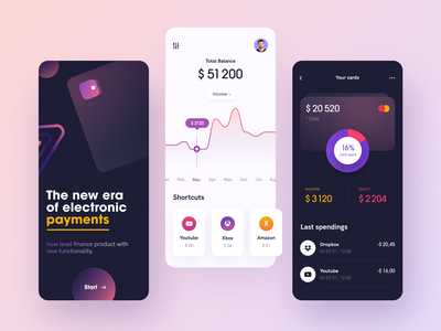 Walletz Mobile ux ui startup interface design application