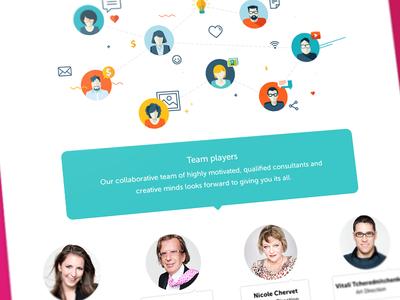 Pinkup Team page #WIP halo lab website landing web ui ux team flat illustration icons wip