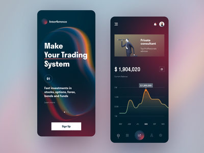 Interference Mobile ux ui startup interface design application