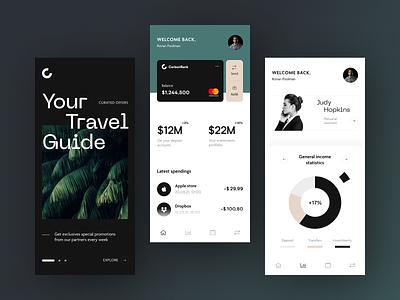 Carbon Bank Mobile design application startup interface halo lab ux ui