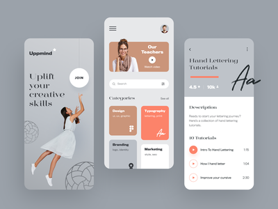 Uppmind Mobile halo lab application startup interface design ux ui