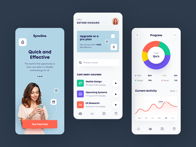 Syncline Mobile application startup interface design ux halo lab ui