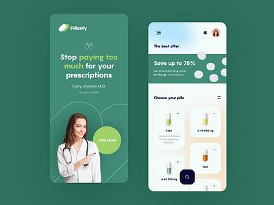 Pilzefy Mobile application startup interface design ux ui