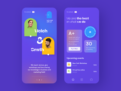 Welch & Smith Mobile application startup interface design ux halo lab ui