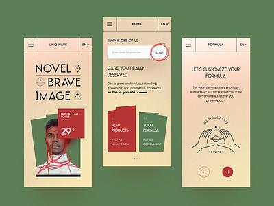 Uniq Wave Mobile application startup interface halo lab design ux ui