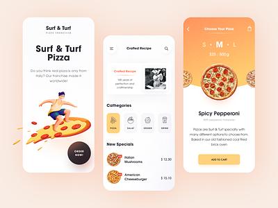 Surf & Turf Mobile application startup interface design ux halo lab ui