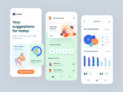Actid Mobile application startup interface design ux halo lab ui