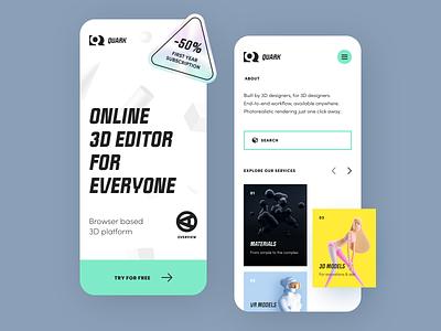 Quark Mobile application startup interface design ux halo lab ui