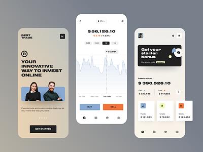 Best Trade Mobile application startup interface design ux halo lab ui