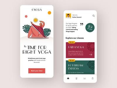 Oyoga Mobile application startup interface design ux halo lab ui
