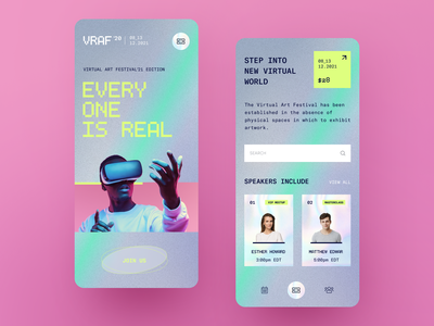 VR Fest mobile application startup interface design ux halo lab ui