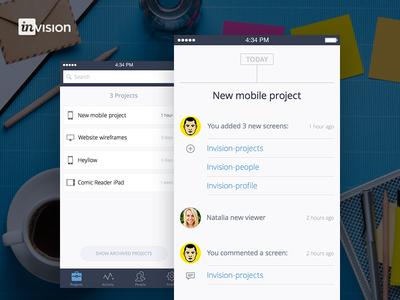 Invision Mobile App Concept