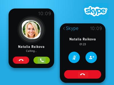 Skype Apple Watch Concept