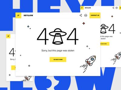 404 Page — Heyllow New Website