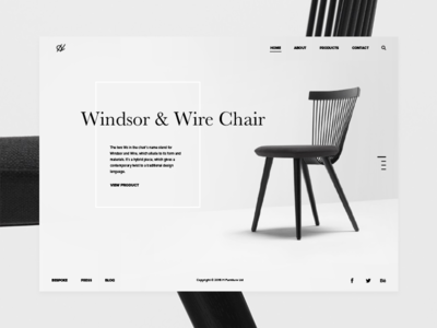WW Chair Promo Website Concept promo ux ui website design full screen halo lab furniture slider concept chairs