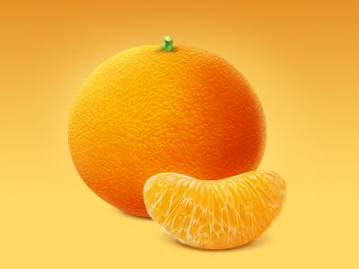 Tangerine icon mandarin tangerine citrus orange vitamin icon