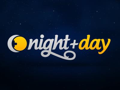 Night + Day Logo logo logos night day lettering plus hand-writing identity