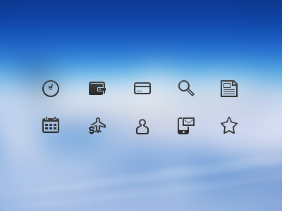 Airtickets icons