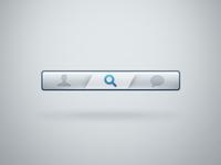 Navbar with active button