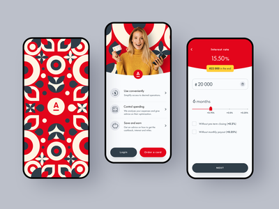 Alfa-Bank Ukraine App Redesign ukraine pattern halo lab halo android ios mobile alfabank startup funding financial money redesign banking app financial app budget colourful design app