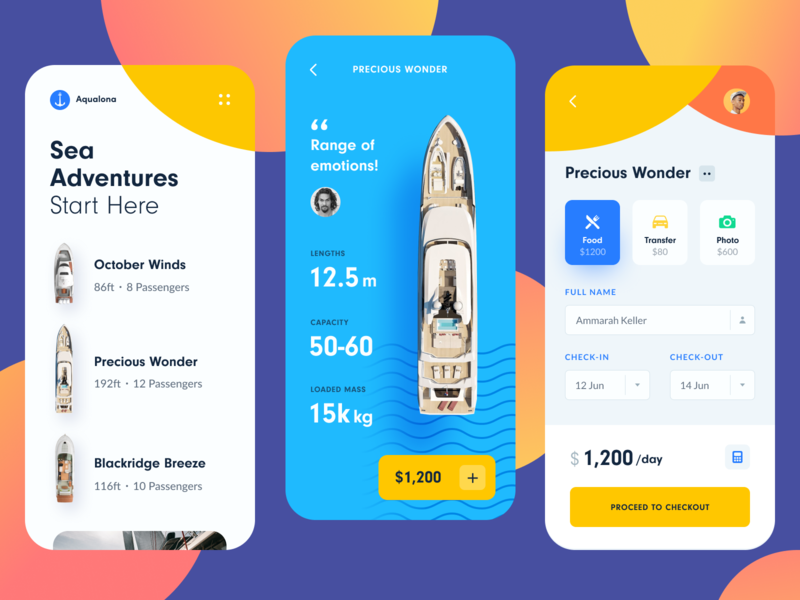 Yacht Booking Mobile First cart ecomerce travel halo lab halo android ios booking yachting yachts mobile first ui ux app mobile