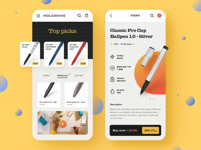 Moleskine Mobile Website android ios promo mobile first item cart cards ui ux picture startup business moleskine ecommerce halo lab halo colourful design