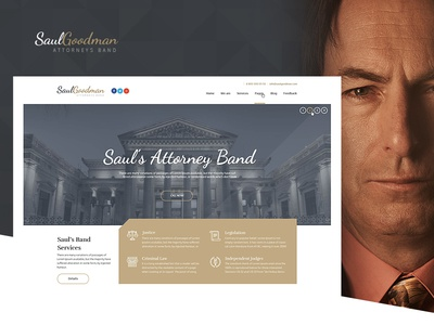 SaulGoodman - Attorneys Band theme web design ui juctice law