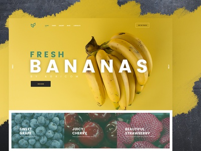 UI for Agriculture company food creative ux ui agriculture