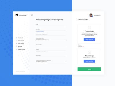 CrowdsaleNinja   TokenSale ICO Platform wallet app bitcoin wallet altcoin art direction ethereum ico token creative design app ux ui ui deisgn
