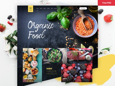 Agro | Organic Food & Agriculture Template agriculture farming free psd freebie themeforest theme template design organic food food creative ux design ui design