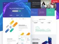 Crypterium - Cryptocurrency & ICO Landing Page download psd html theme themeforest crypto cryptocurrency freebie free psd ux design ui design ux ui