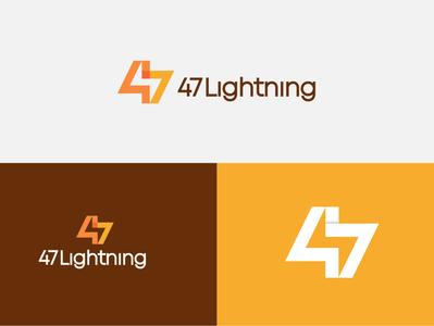 47 lightning brand logodesignersclub logomark logodesigns illustration branding graphic  design design logo