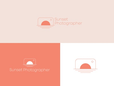 Sunset Photographer logomark brand logodesignersclub logodesigns branding graphic  design design logo
