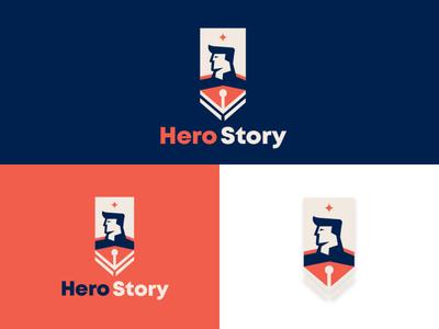 Hero Story Logo Design icon logomark graphic  design logodesign logodesignersclub logodesigns branding design logo