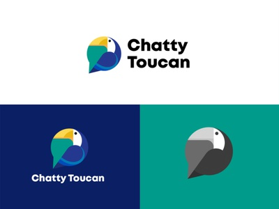 Chatty toucan logodesign logomark graphicdesign brand logodesignersclub logodesigns branding graphic  design design logo